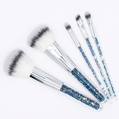 Blue Gold Diamond Best Unicorn Makeup Brushes Set-pugnent.com