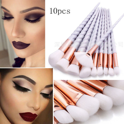 10pcs Unicorn Makeup Brushes Set-pugnent.com