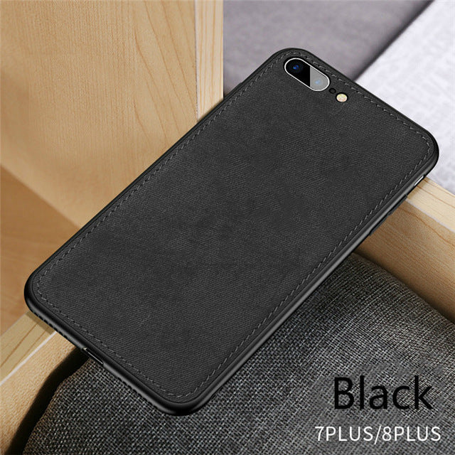 Canvas Fabric Ultra-thin Silicon iPhone Cases-pugnent.com