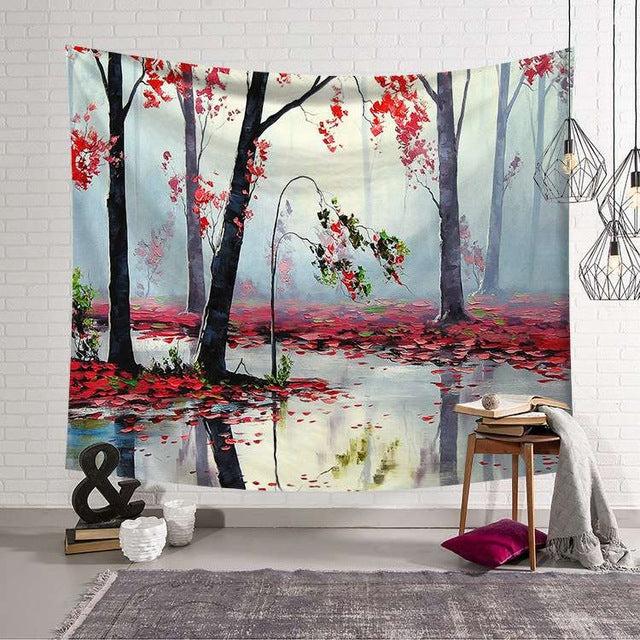 Landscape Tapestry - Beautiful Landscape Wall Tapestry-pugnent.com