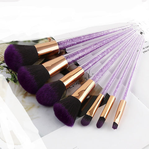 7pcs Purple Diamond Best unicorn makeup brushes Set-pugnent.com