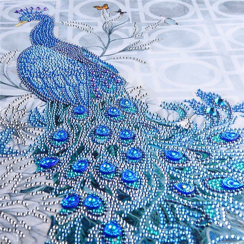5D Diamond Painting Blue Peacock-pugnent.com