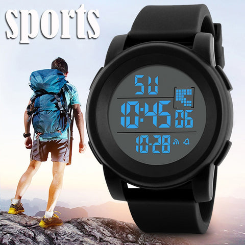 Digital LED Waterproof Wrist Watch for men-pugnent.com