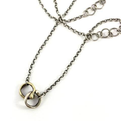 Bea Necklace in Brass and Silver