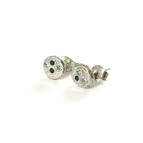 SMALL ROUND STUDS WITH GEMS