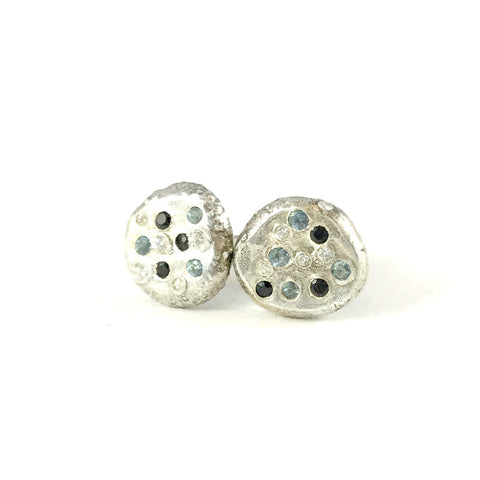 BIG ROUND STUDS WITH GEMS