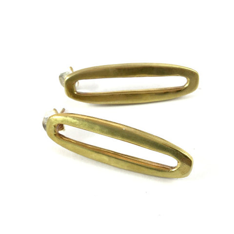 ZADA EARRINGS IN BRASS