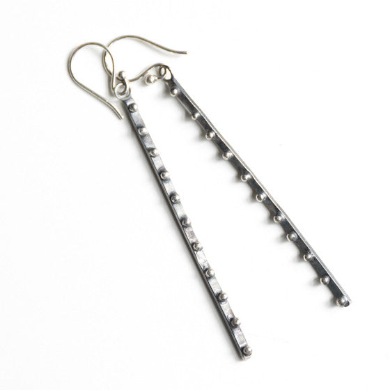 Long Earrings with Tiny Balls