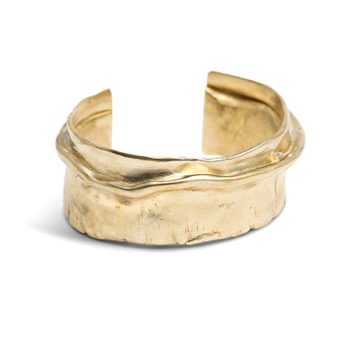 ISHTAR NARROW CUFF I - BRASS