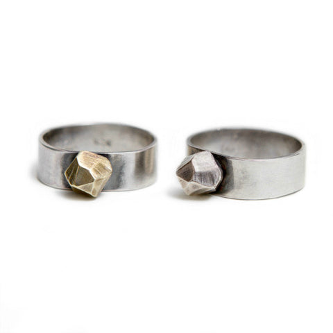 Krystallino Ring in Brass and Silver