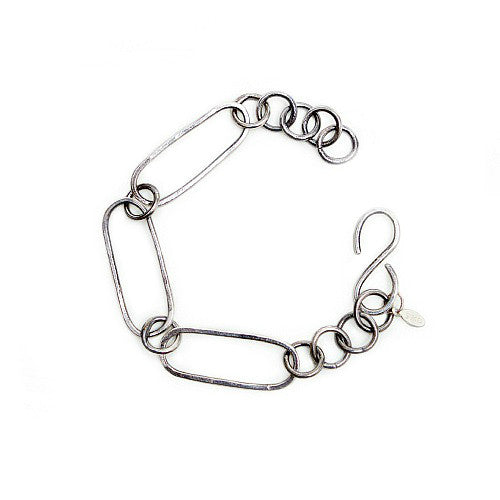 Oval Links Silver Bracelet - SALE