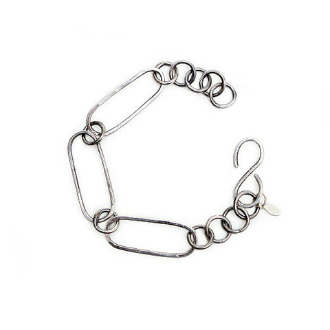 Oval Links Silver Bracelet