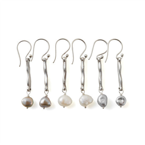 SERENA EARRINGS - SILVER AND PEARLS