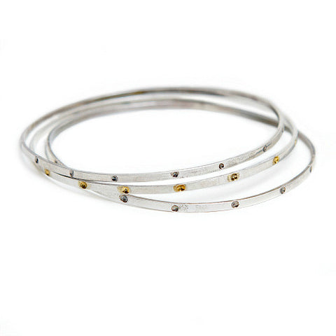 Silver & Gold Dots Bangles - SALE