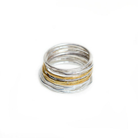 Silver & Gold Stacked Rings