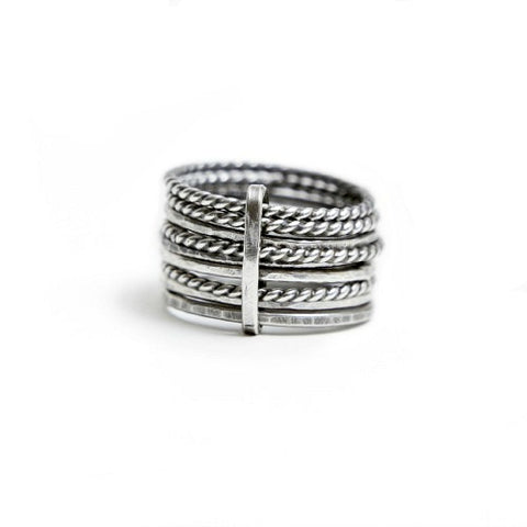 Tied Silver Rings - SALE