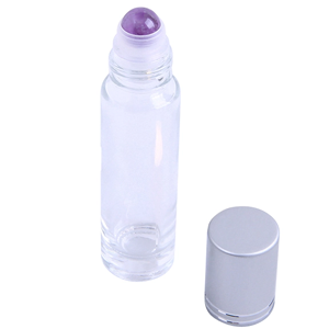 Essential Oil Roller Bottle - Amethyst Sphere