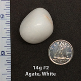 White Agate Tumbled Stone