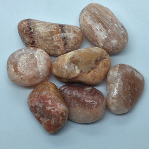 Aragonite, Red Tumbled Stones