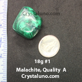 Malachite, Quality A Tumbled Stone