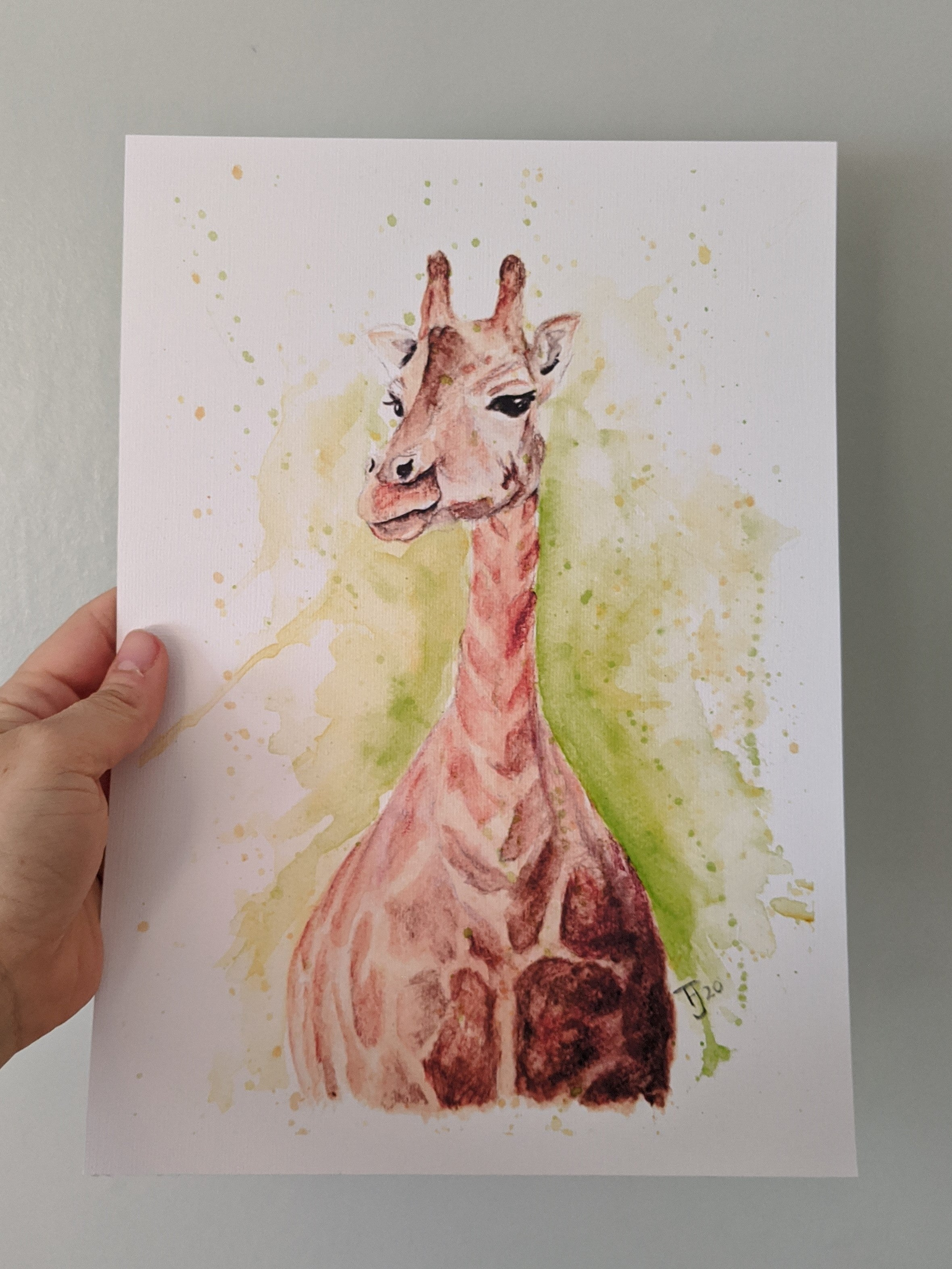 Giraffe Watercolour Prints and Gifts