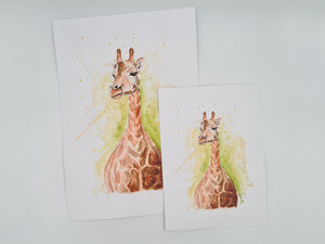 Open image in slideshow, Giraffe Watercolour Prints and Gifts