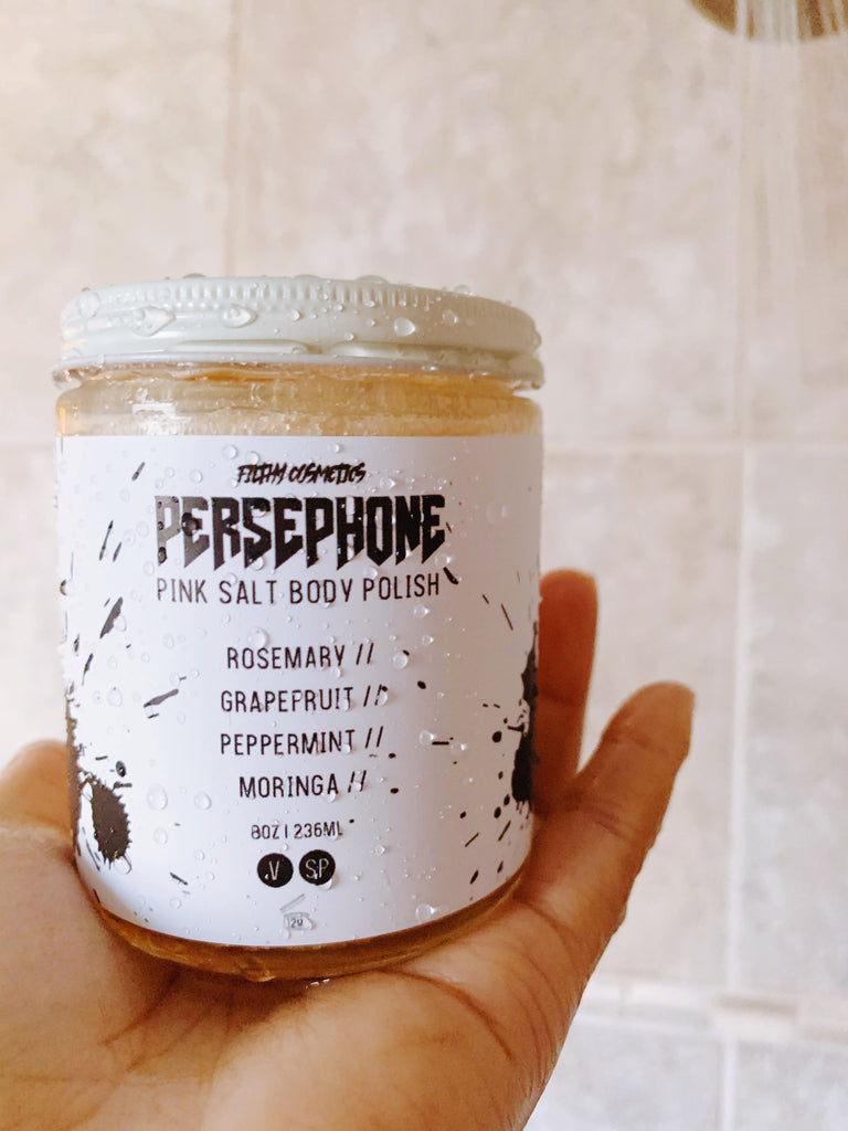 Persephone pink salt body polish