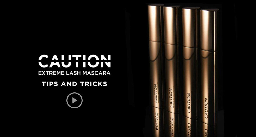 Caution mascara wand