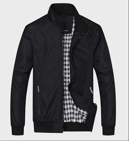 Solid color New 2017 Casual Jacket M-5XL 6XL Men Spring Autumn Outerwear Mandarin Collar Clothing -  7accessories.com