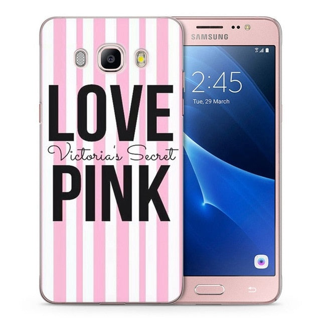 Case For Samsung Galaxy A3 A5 2016 2015 2017 prime J1 J2 J3 J5 TPU Soft  Flora pink Heart Painted Case C083
