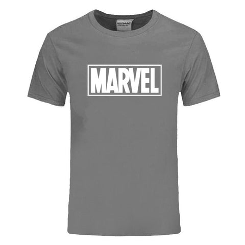 EINAUDI New Fashion Marvel Short Sleeve T-shirt Men Superhero print t shirt O-neck comic Marvel shirts tops men clothes Tee -  7accessories.com