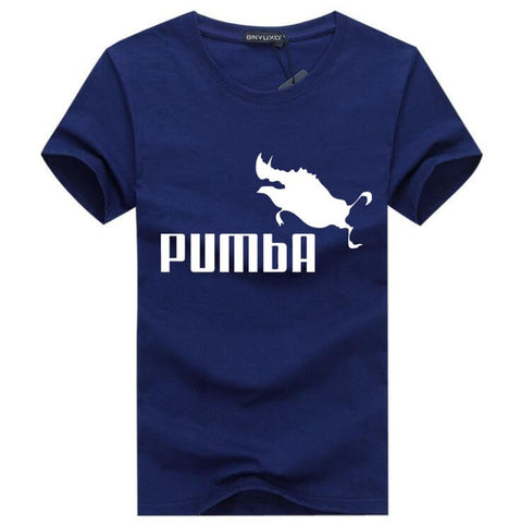 BINYU 2018 funny tee cute t shirts homme Pumba men short sleeves cotton tops cool t shirt summer jersey costume Fashion t-shirt -  7accessories.com