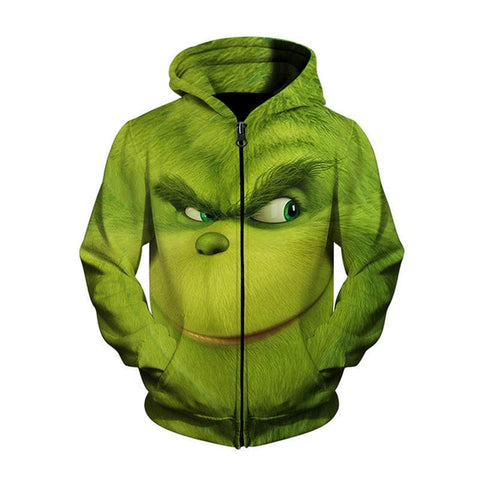 GRINCH FULL FACE HOODIES -  7accessories.com