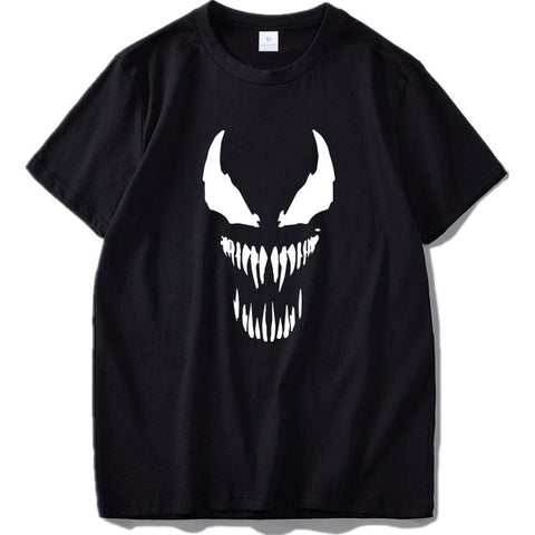 EU Size Venom T Shirt Men Cool Comic Originality Black Cotton T-shirt Anime High Quality Movie Tops Tee Homme -  7accessories.com