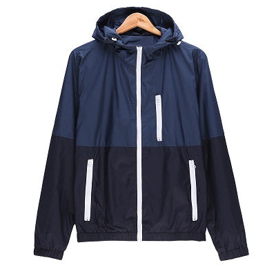 Windbreaker Men Casual Spring Autumn Lightweight Jacket 2019 New Arrival Hooded Contrast Color Zipper up Jackets Outwear Cheap -  7accessories.com