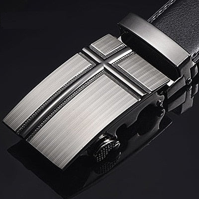 [DWTS]Men Belt Male Genuine Leather Strap Belts For Men Top Quality Automatic Buckle black Belts Cummerbunds cinturon hombre -  7accessories.com