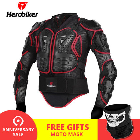 HEROBIKER Motorcycle Jacket Men Full Body Motorcycle Armor Motocross Racing Protective Gear Motorcycle Protection Size S-5XL # -  7accessories.com