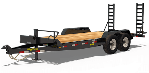 Big Tex 14ET Heavy Duty Tandem Axle Equipment Trailer