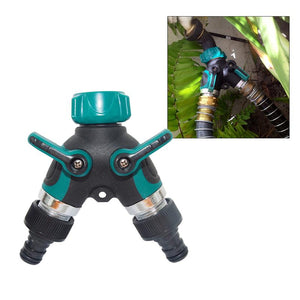 Hose Splitter 2 Way Connector Zinc Alloy 2 Way Tap Hose Pipe Tool Valve Pipe Distributor Splitters Garden Irrigation Accessories