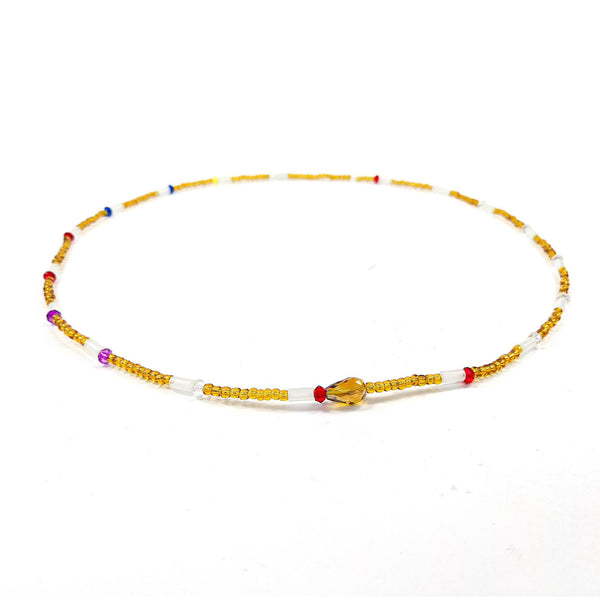 Multi-Colored Elastic African Waist Beads