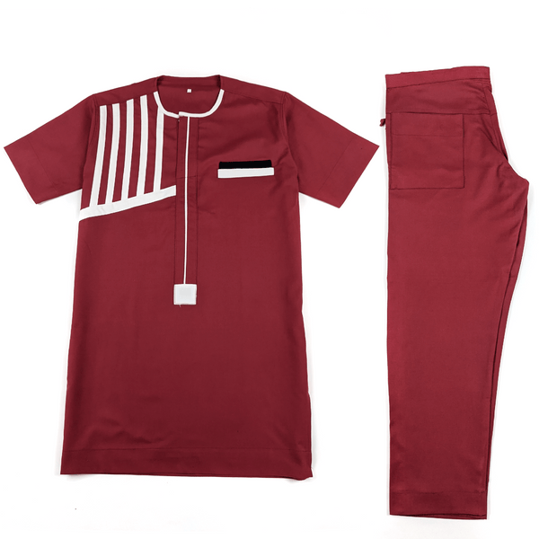 Burgundy Short Sleeve Set