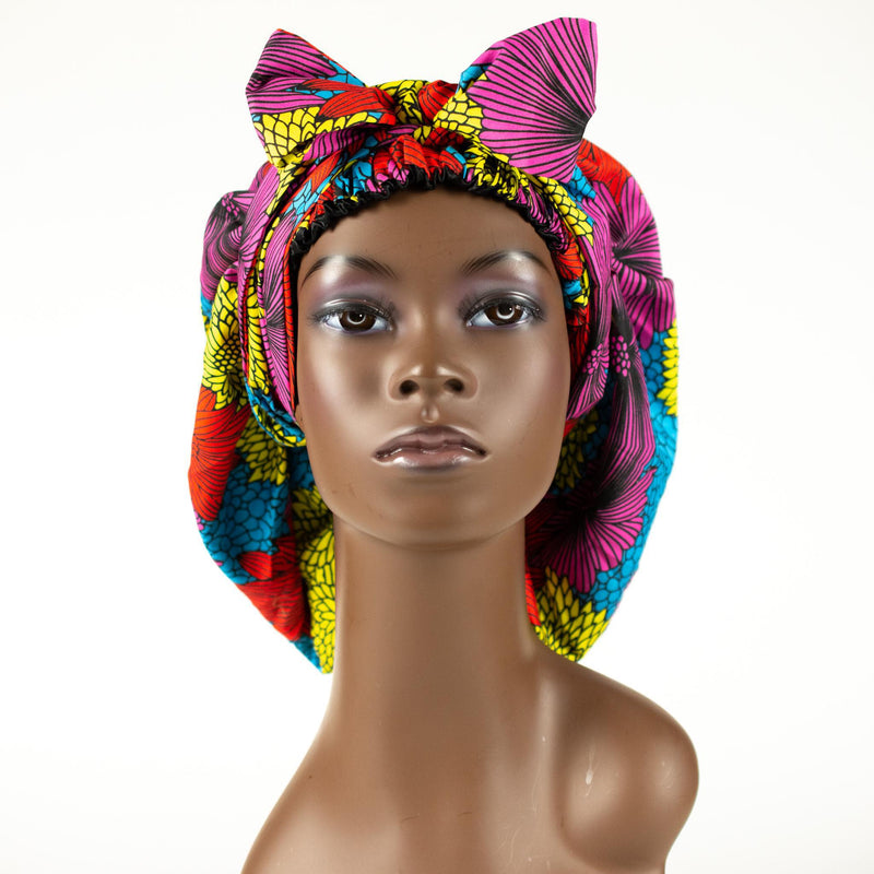 Silk Lined Ankara Bonnets