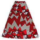 Red & Black Print Long Skirt