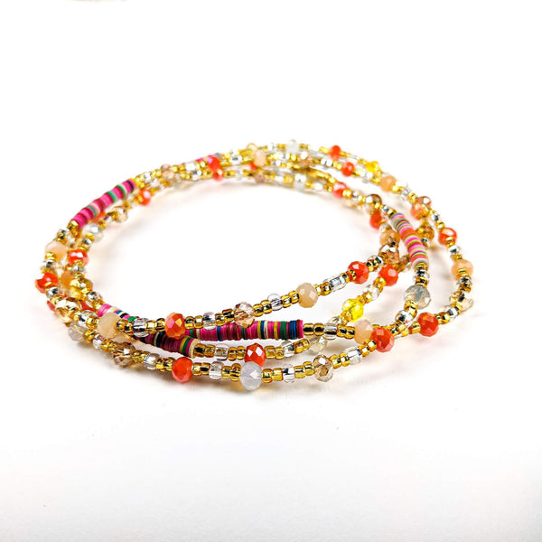 Multi-Color African Waist Beads