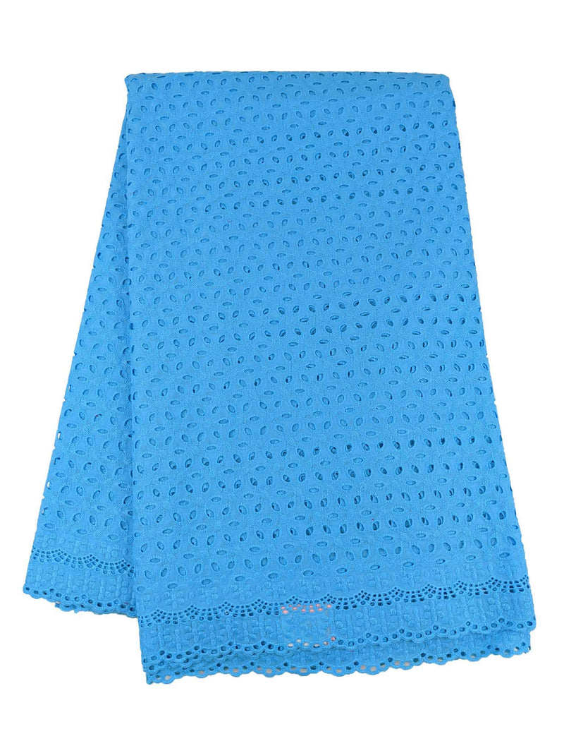 Blue Cotton Dry Lace