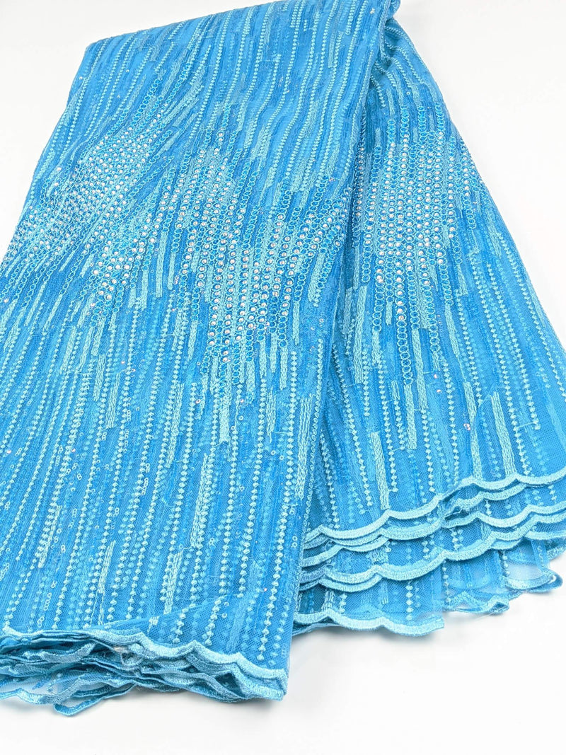 Blue Net Lace
