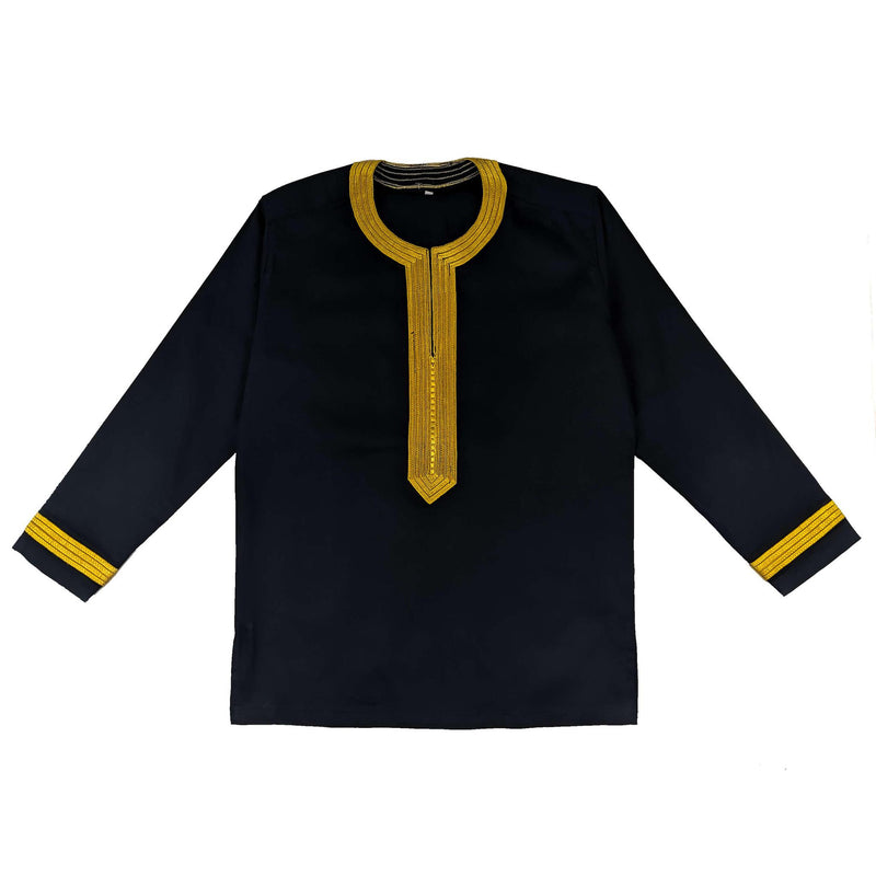Men's Embroidery Long Sleeve Top