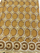 Gold & Bronze Cotton Embroidery  Lace