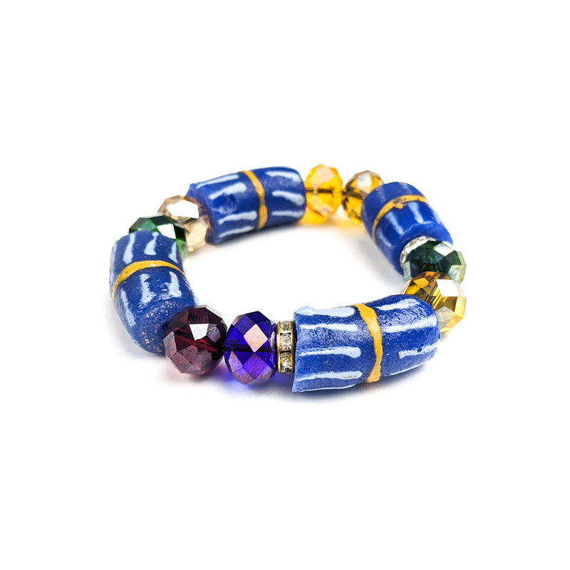 Muti-colored Krobo Beads and Crystals