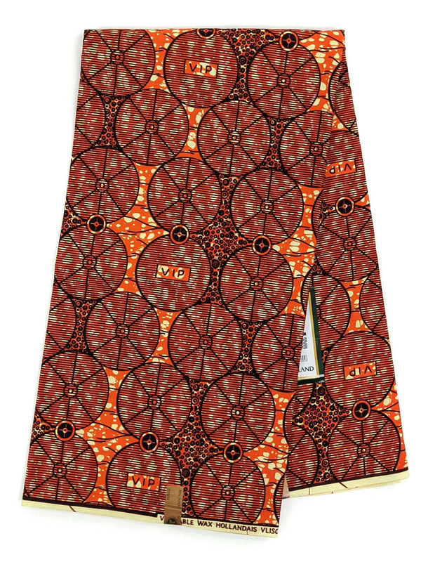 Orange Ankara Wax Print